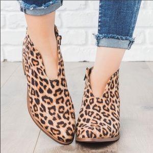 Must Have! Cheetah U Cut Heeled Bootie!